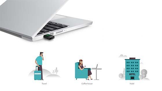 MKP TARJ ADAPT AC600 USB DUAL