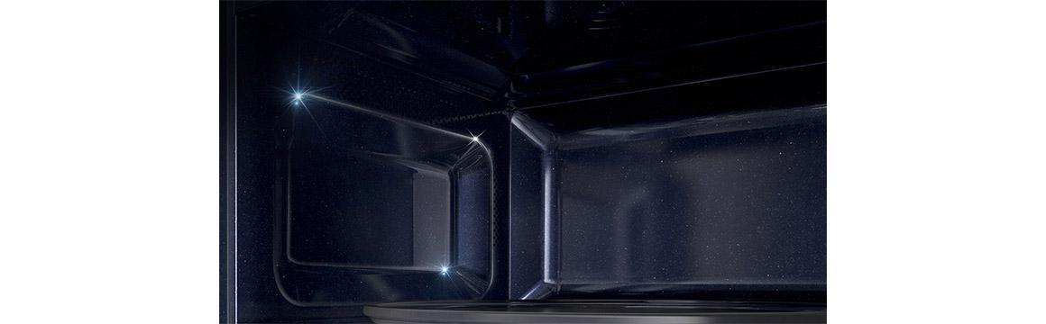 Microondas Negro con Esmalte Cerámico, 23 L, MS23K3513AK/ZS