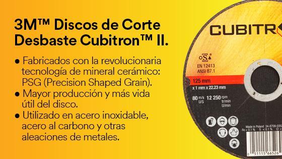 3M Discos de Corte y Desbaste Cubitron II