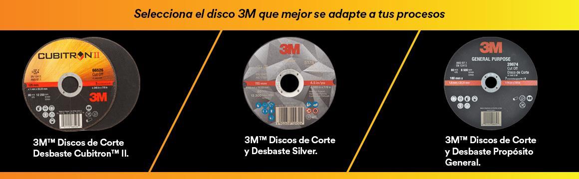 Selecciona el disco 3M qué mejor se adapte a tus procesos