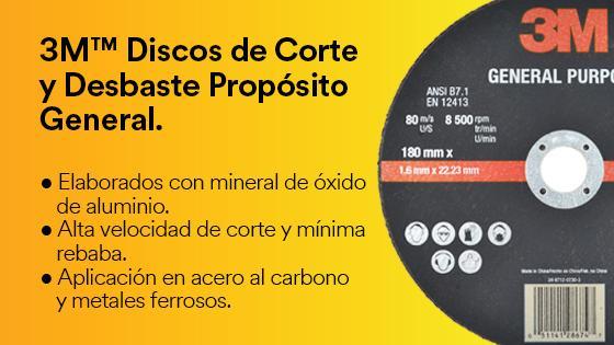 3M Discos de Corte y Desbaste Propósito General