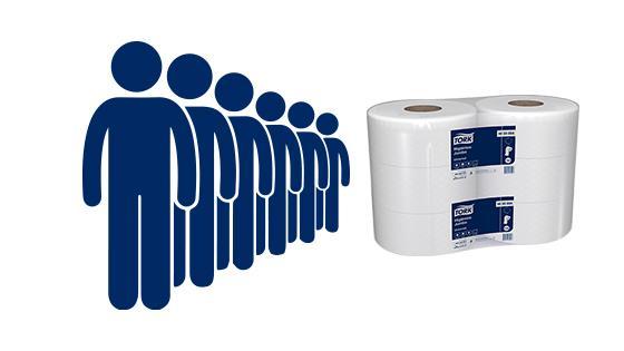 Papel higienico hi55004 gran rendimiento