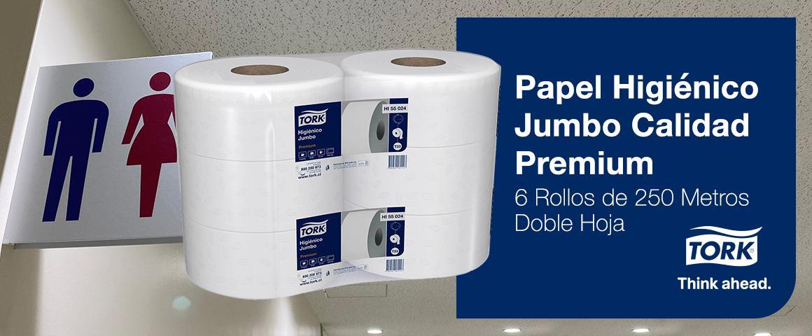 Papel Higiénico Tork Jumbo Calidad Premium - 6 Rollos de 250 Metros - Doble Hoja