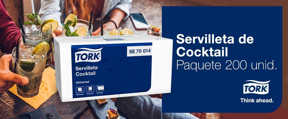 Servilleta de Cocktail Tork Calidad Universal - Paquete de 200 Unidades