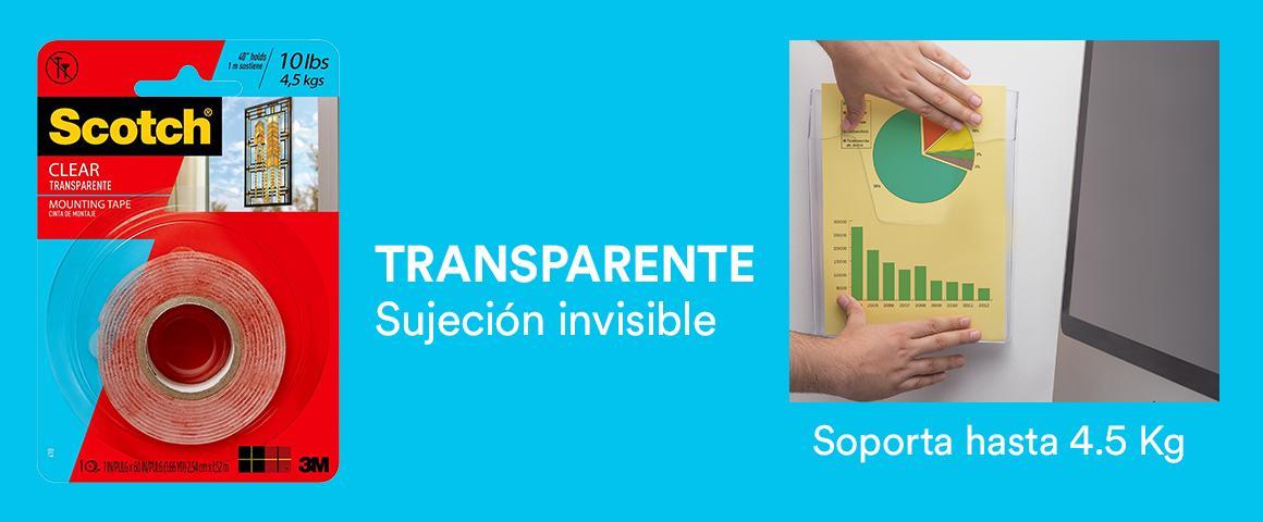 Cinta transparente Sujeción invisible