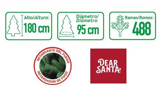 medidas árbol navidad