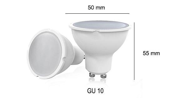 Ampolleta GU 10 6w cálida