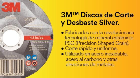 3M Discos de Corte y Desbaste Silver