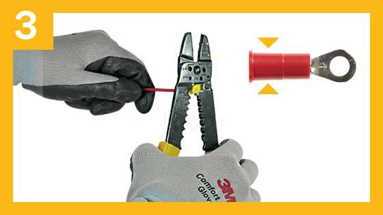 Paso 3 para una conexión segura contra descargas eléctricas