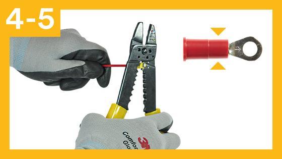 Paso 4 y 5 para una conexión segura contra descargas eléctricas