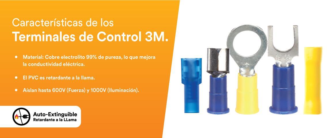 Característica terminales, material cobre electrolito, PVC