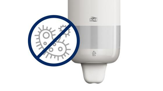 Dispensador de jabón elevation evita la contaminación cruzada