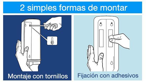 Dispensador de jabón elevation 2 formas de instalar
