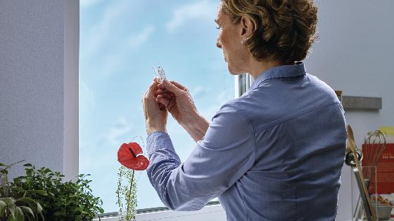 Gancho adhesivo tesa® para superficies transparentes y vidrio 1 kg, 2 piezas