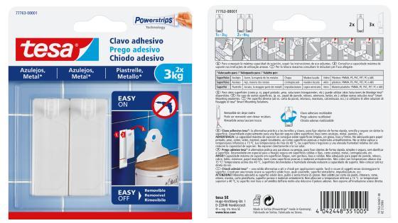 clavo adhesivo;clavo adhesivo para azulejos;soportes adhesivos;soportes adhesivos 3 kg;colgar sobre metal;colgar sobre azulejos