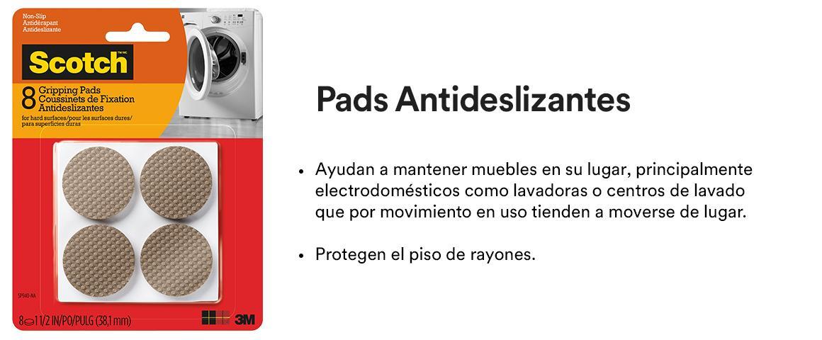 Fieltros adhesivos, topes de goma, pads antideslizantes, pads deslizadores