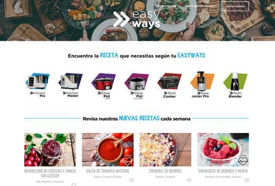 web recetas