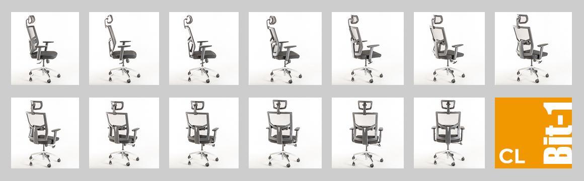 Modelo de silla ergonómica BIT-1CL de Mikra