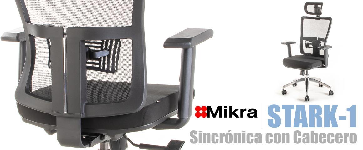 Silla Ergonómica STARK-1 Sincrónica con Cabecero, de Mikra.