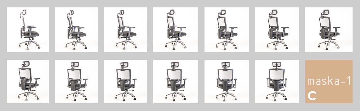 Silla Maska-1 con Cabecero, silla ejecutiva ergonométrica