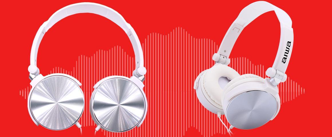 Audífonos on-ear aiwa aw-x107 blanco
