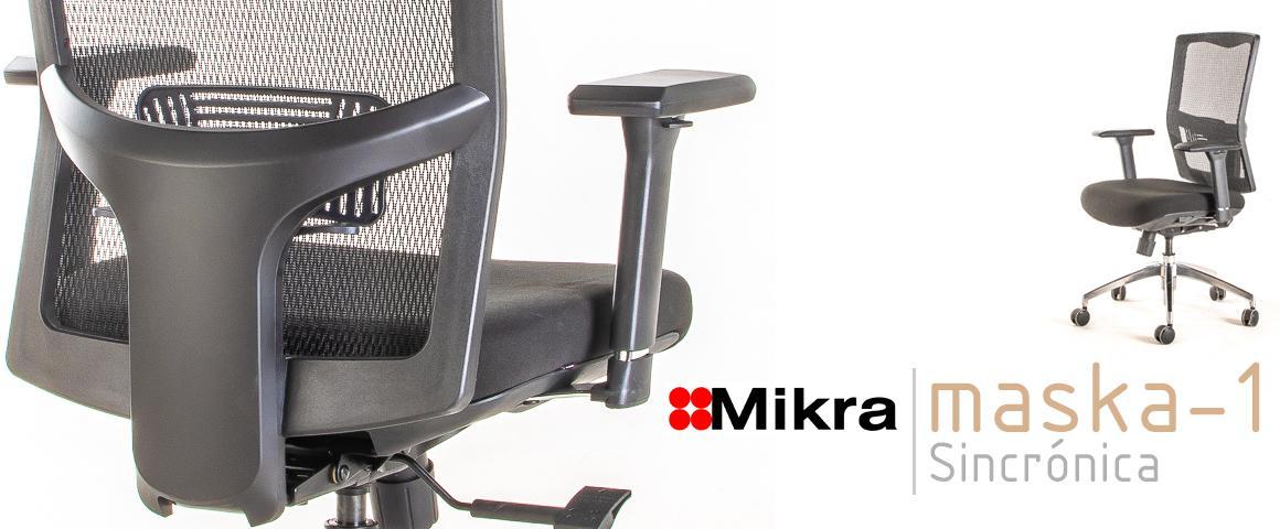Silla Ergonómica MASKA-1 Sincrónica, de Mikra.