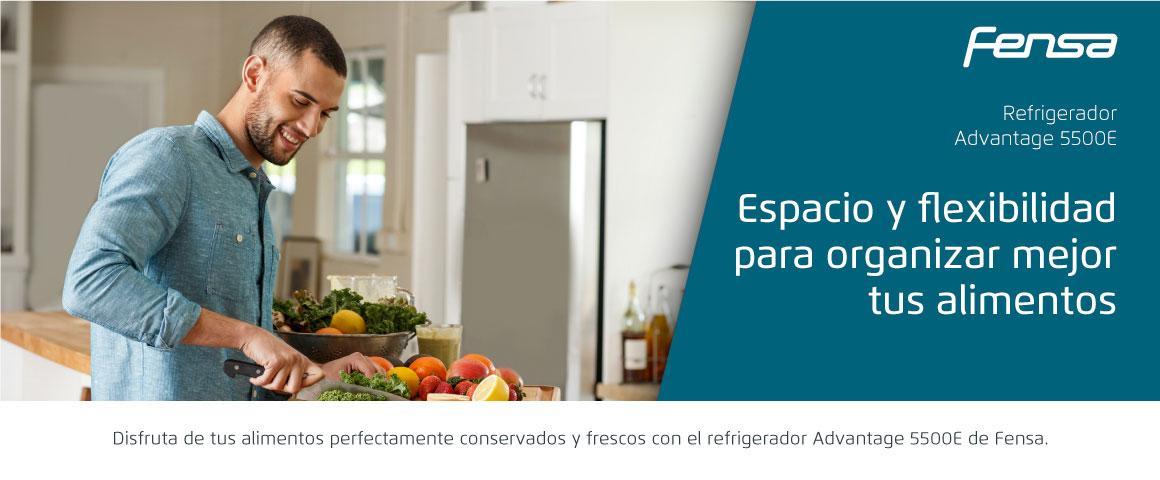 Espacio y flexibilidad con el Refrigerador Advantage 5500E