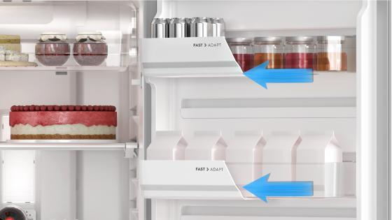Fast Adapt (Balcones deslizables intercambiables) con el Refrigerador Advantage 5500E