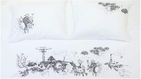 cherry-blossom-ilustraciones-playa-muelle-sabana-4estaciones 1- Homy