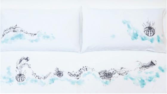 cherry-blossom-ilustraciones-cama-cojines-erizo-originario 2-Homy
