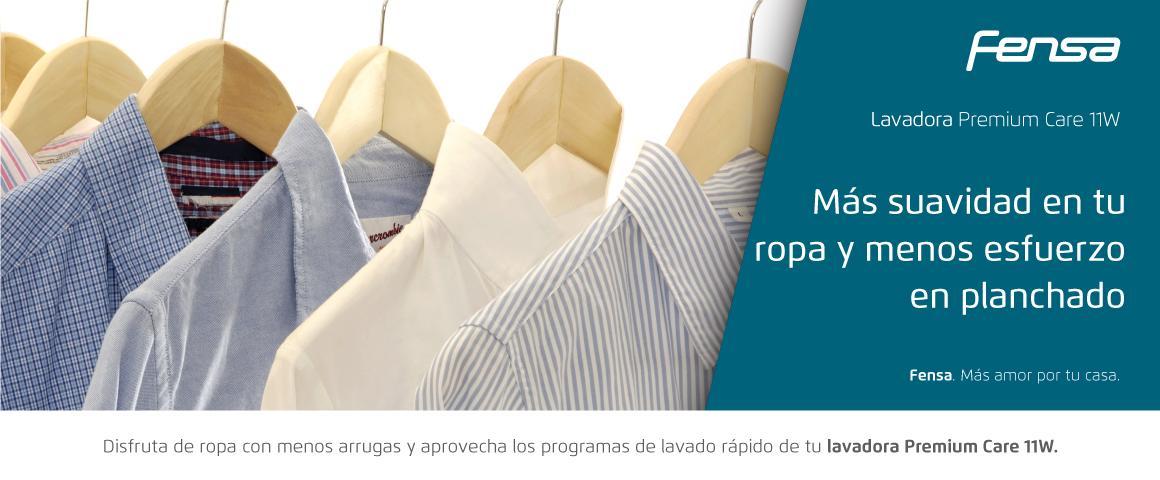 Más suavidad en tu ropa y menos esfuerzo en planchado con la Lavadora Premium Care 11W