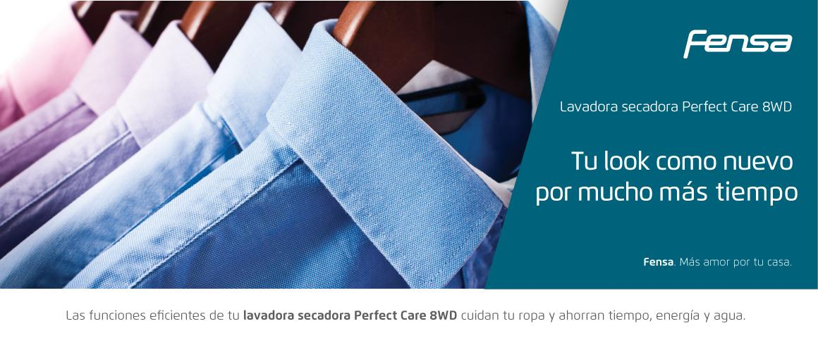 Tu look como nuevo por mucho más tiempo con la lavadora secadora Perfect Care 8WD