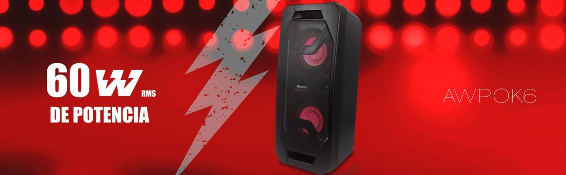Parlante portátil karaoke bluetooth Aiwa Aw-pok6