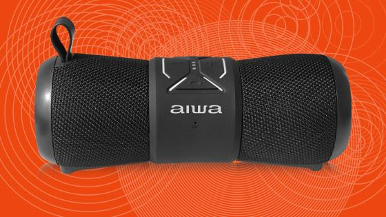 Parlante portátil impermeable bluetooth aiwa out 2 negro