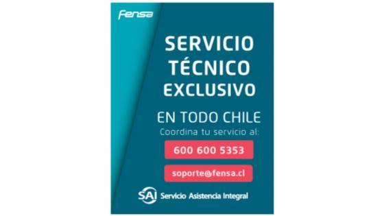 Tu refrigerador tiene una cobertura de Arica a Punta Arenas, con la Red de Servicios Exclusivos de Asistencia Integral, SAI.