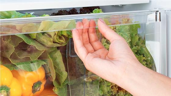 Usa la gaveta del refrigerador BFX70 para almacenar todas tus frutas y verduras manteniendo siempre su frescura conservándolas por más tiempo.