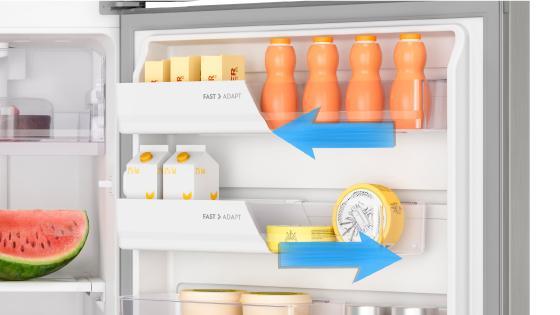 Fast Adapt (Balcones deslizables intercambiables) con el refrigerador Fensa DF56S