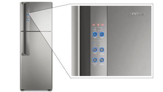 Panel Blue Touch con el refrigerador Fensa DF56S