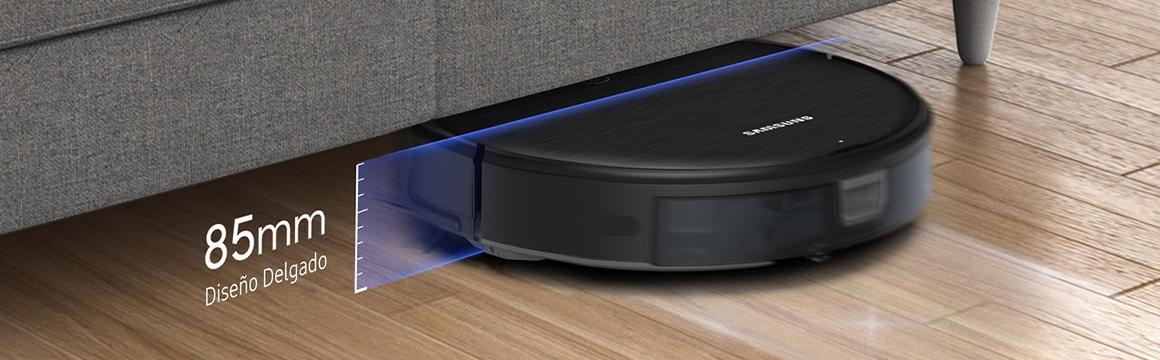 Aspiradora y trapeadora 2 en 1 con diseño delgado y control Wi-Fi