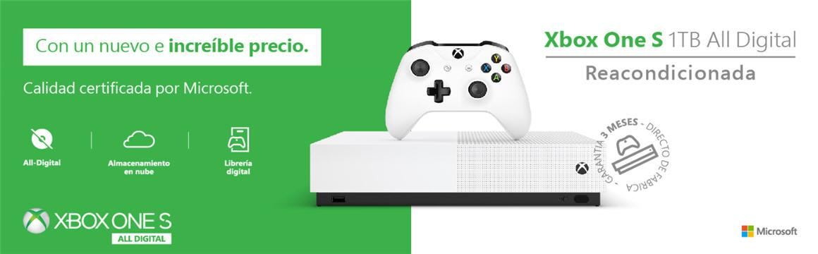 XBOX ONE S ALL DIGITAL 1TB Factory Refurbished