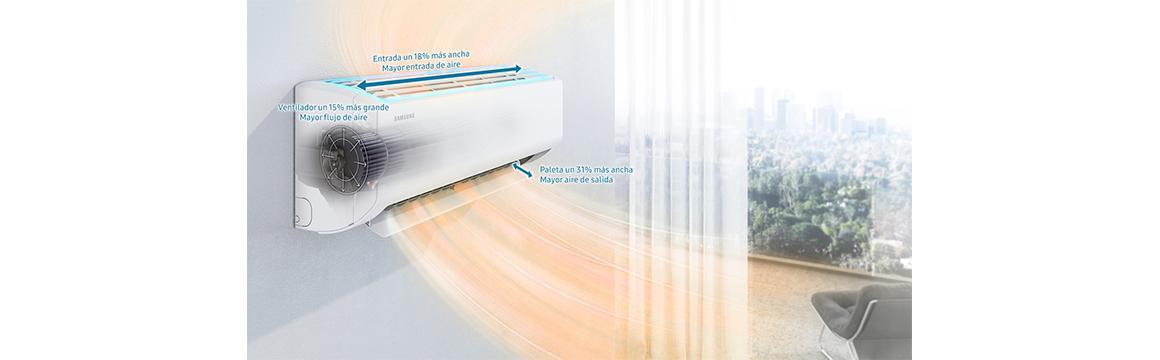 Samsung Split Inverter, 12000 BTU, WI-FI, Frío & Calor