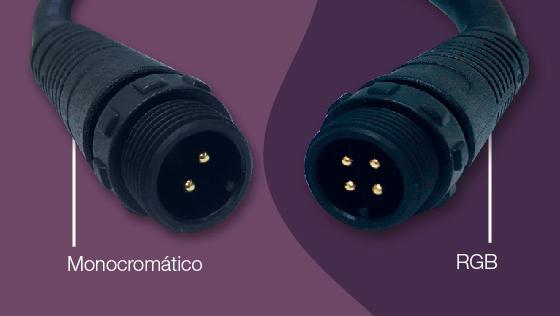 conector detalle monocromatico bipolar 2 dos cables