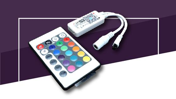 controlador wifi cinta led rgb accesorio multicolor
