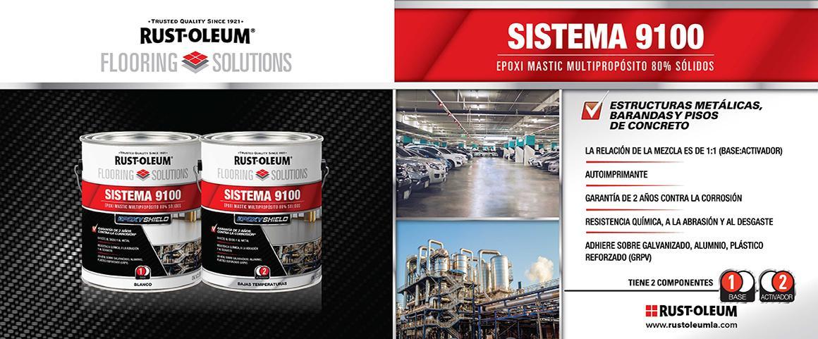 sistema 9100, recubrimiento epoxico, epoxi mastic, flooring solutions, pintura pisos, rust-oleum