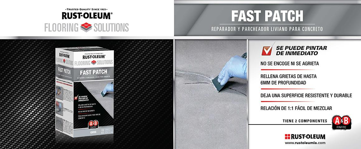 fast patch, flooring solutions, reparador concreto, grietas, pintura pisos, piso 24 horas, poliurea, rust-oleum