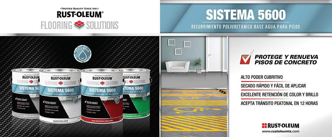sistema 5600, recubrimiento poliuretanic base agua, flooring solutions, pintura pisos, rust-oleum