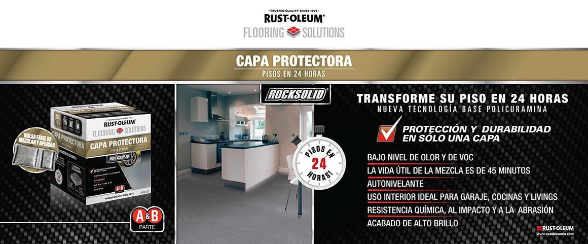 rock solid, flooring solutions, capa protectora, pintura pisos, piso 24 horas, poliurea, policuramina, rust-oleum, aditivos