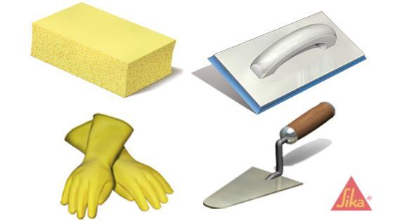 herramientas sikaceram fragüe impermeable