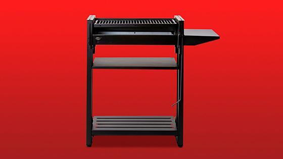 Estructura robusta de 46.6 kg de acero, para parrillar segura y cómodamente