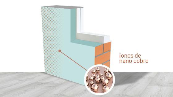 Pintura con Nano cobre
